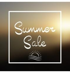 Summer Sale Lettering Background vector image