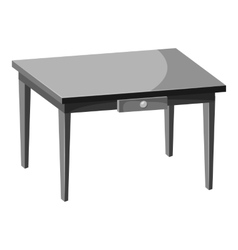 Table icon gray monochrome style vector image