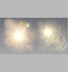 two foggy light effects vector image