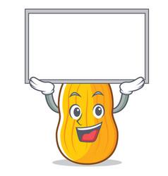 Up board butternut squash character cartoon vector