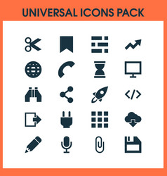 User icons set collection cloud mike pin and vector