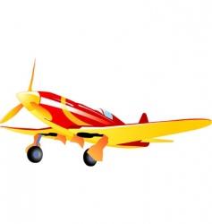 vintage fighter vector image vector image