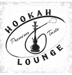 vintage hookah emblem vector image