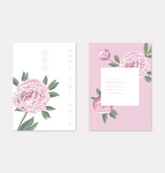 wedding save date invitation cards set with vector image