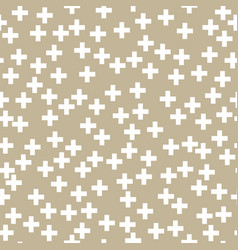 White plus sign on gold background vector