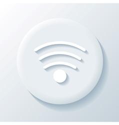Wi-fi 3D Paper Icon vector