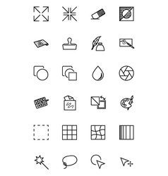 Art Design and Development Icons 2 vector image