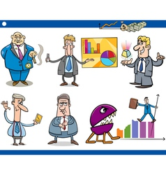 businessmen cartoon concepts set vector image