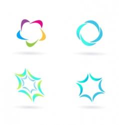 circle icons vector image vector image