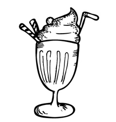 ice cream with float vector image