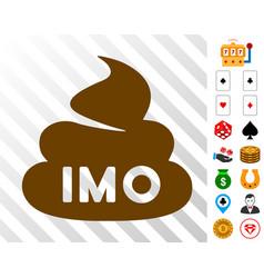 Imo shit icon with bonus vector