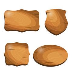 wooden vintage labels stickers emblems badges vector image vector image