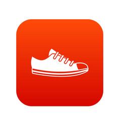 canvas sneaker icon digital red vector image vector image