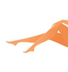 Female suntanned legs vector image