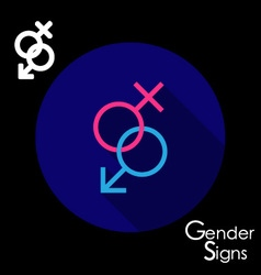 Gender signs for male and female vector image