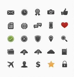 Generic symbol icon set vector image vector image