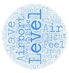 Ten tips for air travel in text background vector