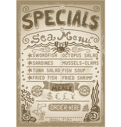 Vintage Graphic Page Menu for Bar or Restaurant vector image vector image