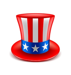 American hat isolated on white vector image vector image