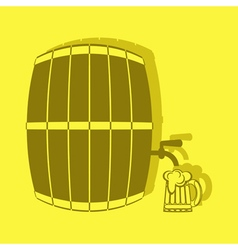 color icon with keg of beer vector image
