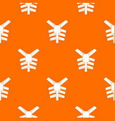 human thorax pattern seamless vector image