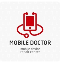 Mobile doctor logo template vector image vector image