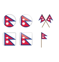 badges with flag of Nepal vector image