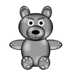 bear sign icon vector image