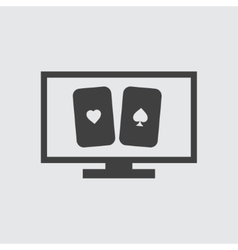 Cards icon vector image