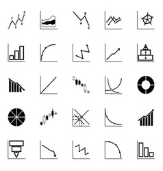 Economic and investment diagram line icon on white vector image