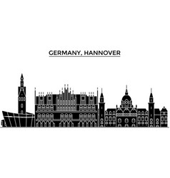 germany hannover architecture city skyline vector image vector image