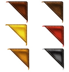 leather corner ribbon vector image vector image