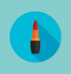 lipstick flat icon with long shadow eps10 vector image vector image