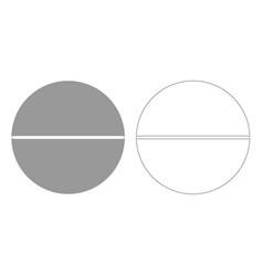 Medical pill grey set icon vector