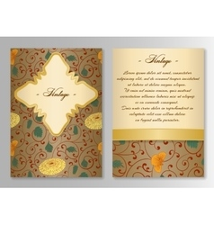 Set of brochure poster templates Vintage style vector image vector image