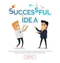 successful idea conceptual flat web banner vector image vector image