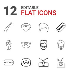 12 shave icons vector
