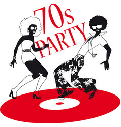 70s party vector