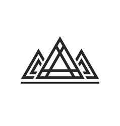 Abstract sacred geometry triangles logo sign vector