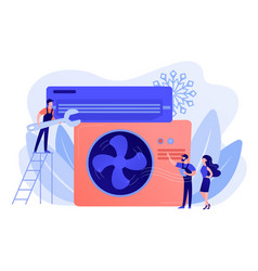 air conditioning and refrigeration services vector image