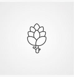 artichoke icon sign symbol vector image
