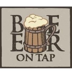 Beer wooden glass vector