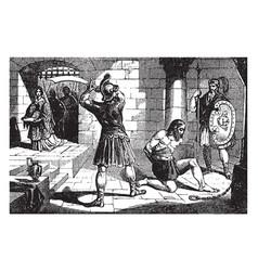 Beheading john baptist vintage vector