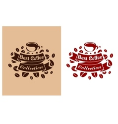 Best coffee retro banner vector image vector image