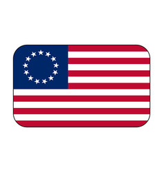 Betsy ross flag icon vector