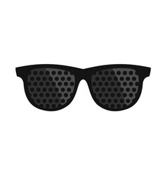 Bifocals icon flat style vector