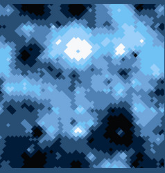 black blue and white halftones camouflage vector image