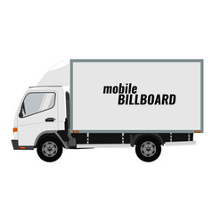 Blank mobile billboard template isolated on white vector