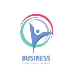 business development - concept logo design vector image