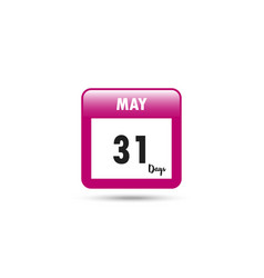 calendar icon 31 days in may vector image